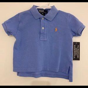 Ralph Lauren NEW w/ tags Blue Cotton Polo 12 Month